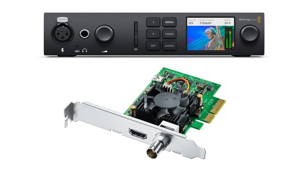 Blackmagic Ultrastudio 4K Mini and Decklink Mini Monitor 4K