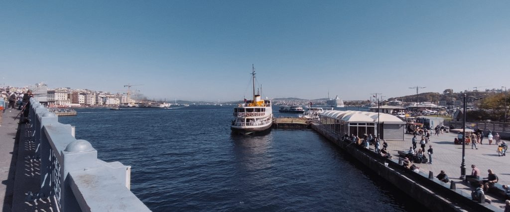 A ferry in Istanbul shot with the iPhone 11 Pro Max ultra wide camera.